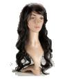 P2: Long wavy dark brown hair