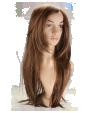 P5: Long straight light brown hair