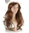P3: Long wavy light brown hair