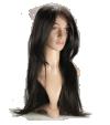 P4: Long straight dark brown hair