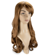 P11: Long and wavy light brown hair