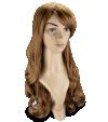 P11: Long wavy light brown hair