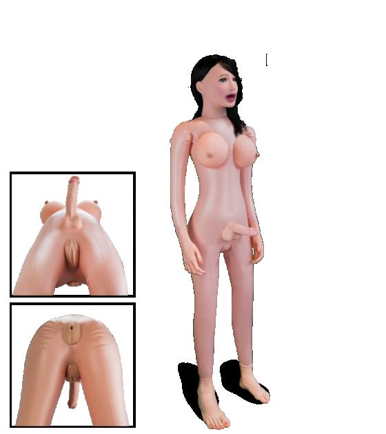 Парень трансвестит с телкой трахаются